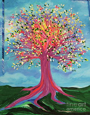 Poster featuring the painting Tori's Tree By Jrr by First Star Art