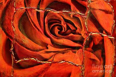 Torn Rose Poster by Pattie Calfy