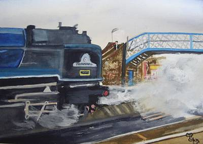 Tornado And Chertsey Station Bridge Poster