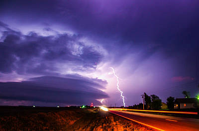 Tornado Warning In Northern Buffalo County Poster by NebraskaSC