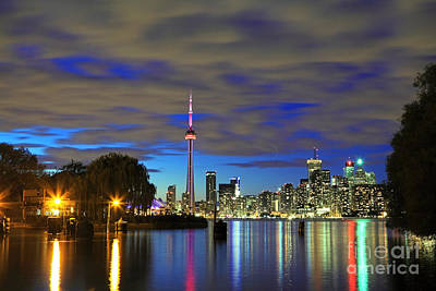 Toronto In Blue Light Poster by Charline Xia