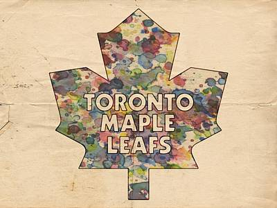 Toronto Maple Leafs Hockey Poster Poster by Florian Rodarte