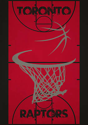 Toronto Raptors Court Poster by Joe Hamilton