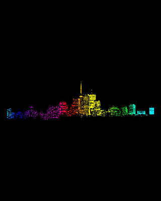 Poster featuring the digital art Toronto Skyline Gradient by Brian Carson
