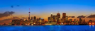 Toronto Skyline Panorama Poster by Sebastian Musial