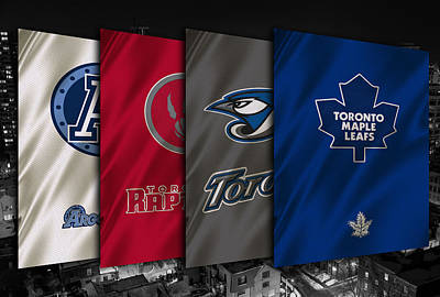 Toronto Sports Teams Poster by Joe Hamilton