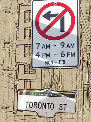 Toronto Street Sign Poster by Nina Silver