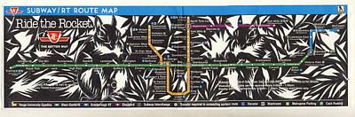 Toronto Subway Map Squirrels Poster by Alfred Ng