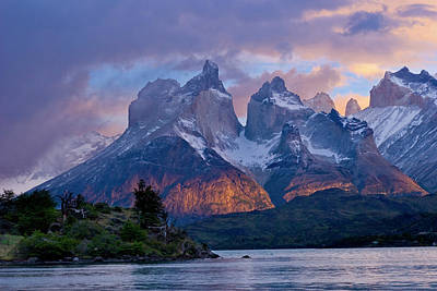 Torres Del Paine National Park, Cuernos Poster by Howie Garber