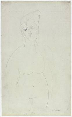 Torso Of A Nude Woman Poster by Amedeo Modigliani