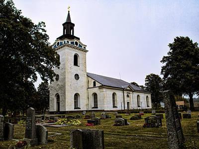 Poster featuring the photograph Torstuna Kyrka Church by Leif Sohlman