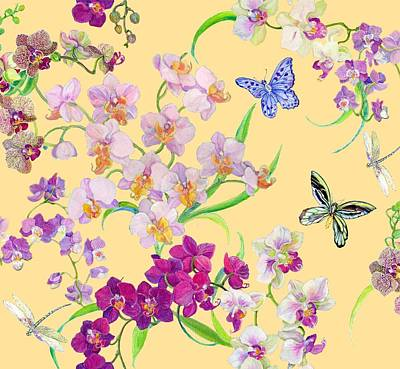 Tossed Orchids Poster by Kimberly McSparran
