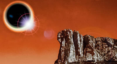 Total Eclipse On Mars Poster by Jim DeLillo