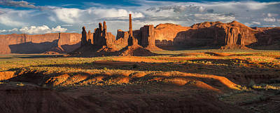 Totem Pole And Yei Bi Chei Monument Valley Poster