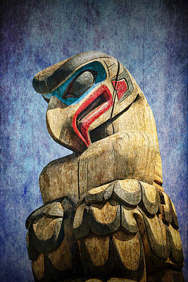 Totem Pole On Vancouver Island In The Pacific Northwest No. Ol 1400 3 Poster