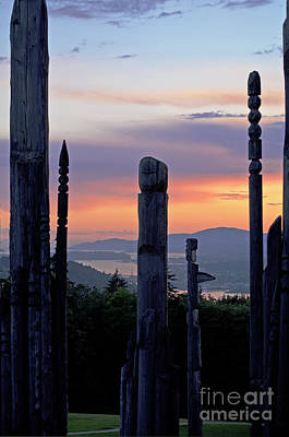 Poster featuring the photograph Totems Aglow by Maria Janicki