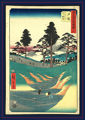 Totsuka, Ando Ca. 1855, 1 Print  Woodcut Poster