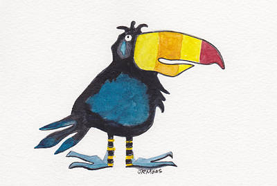 Toucan Cutie Poster by Julie Maas