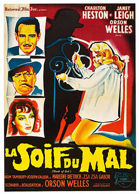 Touch Of Evil, Aka La Soif Du Mal, Left Poster by Everett