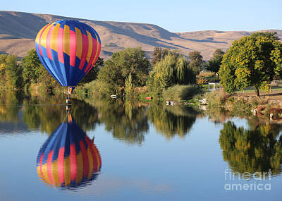 Touchdown On The Yakima River Poster by Carol Groenen