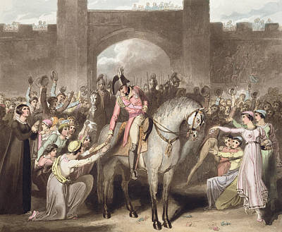 Toulouse, 10th April 1814, From The Poster by Richard Westall