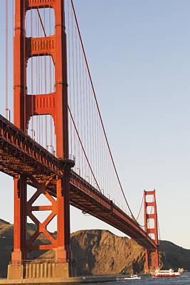 Tour Boats Cross Under Golden Gate Poster