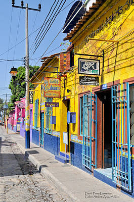 Poster featuring the photograph Tourist Shops - Mexico by David Perry Lawrence