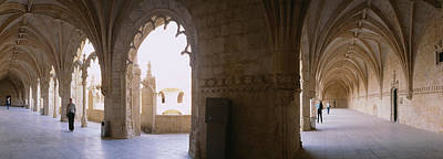 Tourists At A Monastery, Mosteiro Dos Poster by Panoramic Images