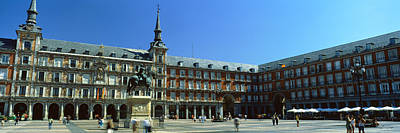 Tourists At A Palace, Plaza Mayor Poster by Panoramic Images