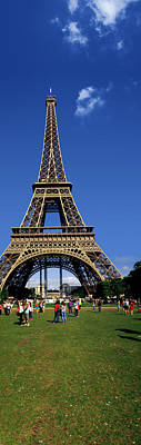 Tourists At Eiffel Tower, Paris Poster by Panoramic Images