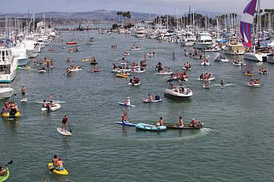 Tourists Enjoying In The Ocean, Dana Poster
