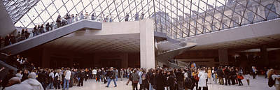 Tourists In A Museum, Louvre Museum Poster by Panoramic Images