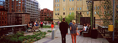 Tourists In A Park, High Line Park Poster
