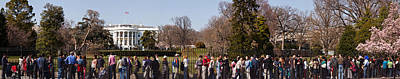 Tourists In Front Of White House Poster by Panoramic Images