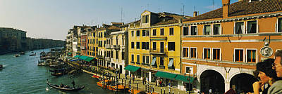Tourists Looking At Gondolas Poster by Panoramic Images