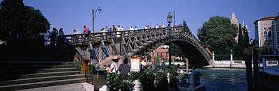 Tourists On A Bridge, Accademia Bridge Poster by Panoramic Images