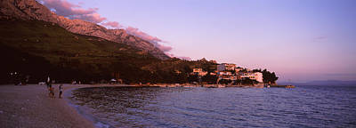 Tourists On The Beach, Makarska Poster by Panoramic Images