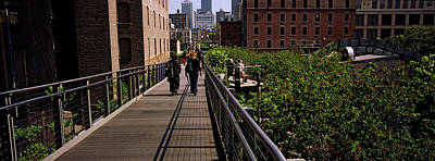 Tourists Walking In A Park, High Line Poster