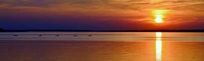 Tours End - Kayak Sunset Photo Poster by William Bartholomew