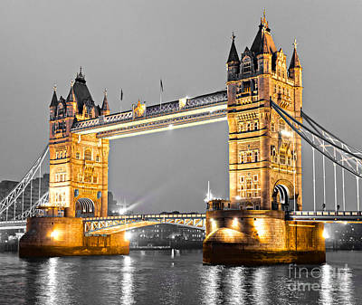 Tower Bridge - London - Uk Poster by Luciano Mortula
