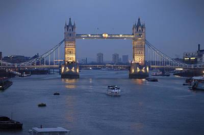 Tower Bridge - England Poster by Mike McGlothlen