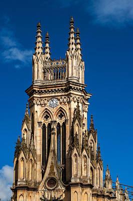 Tower Of Lourdes Church Poster by Jess Kraft