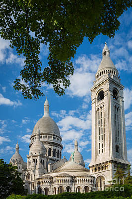 Towering Sacre-coeur Poster by Inge Johnsson