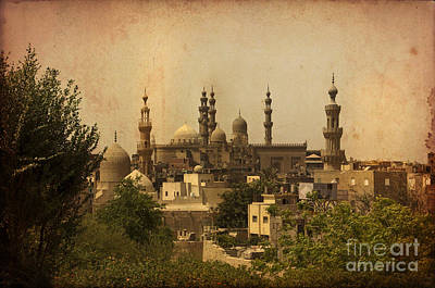 Towers Of Muslims Mosque In Cairo Poster by Mohamed Elkhamisy