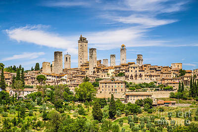 Towers Of San Gimignano Poster by JR Photography