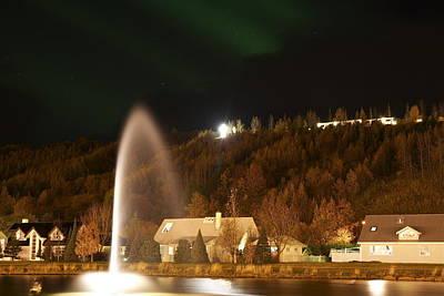 Town Akureyri. Poster by Erlendur Gudmundsson
