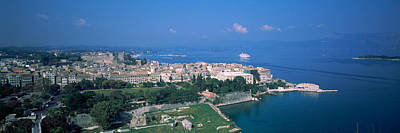 Town At The Waterfront, Corfu, Greece Poster by Panoramic Images