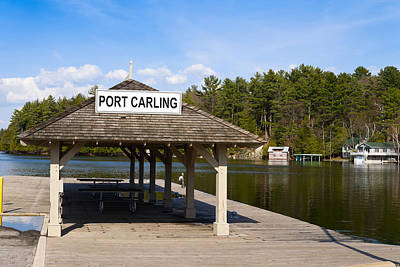 Town Dock And Cottages At Port Carling Poster