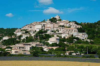 Town On A Hill, D51, Sault, Vaucluse Poster by Panoramic Images