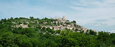 Town On A Hill, Lacoste, Vaucluse Poster by Panoramic Images